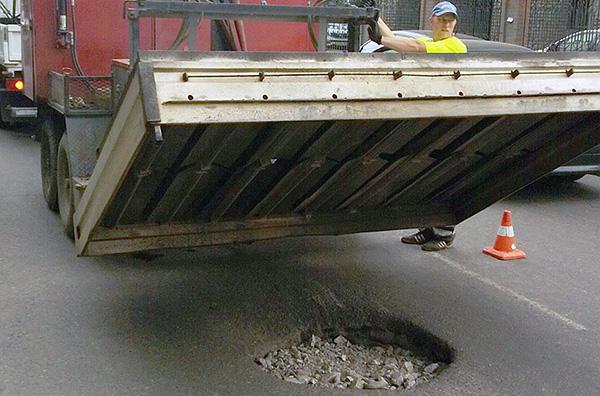 Бесшовный ямочный ремонт в Красноярске